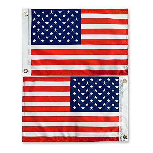 SOULBUTY American Flag 12x18 Inches for Boat, Camping, Motorcycle, True Double Sided, Three-Layer Cloth
