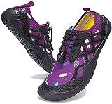 Zapatos de Agua Hombre Mujer Zapatillas de Deportes Acuaticos Calzado de Natación para Buceo Snorkel Surf Piscina Playa Vela Mar Secado Rápido, 028 Morado, 43 EU