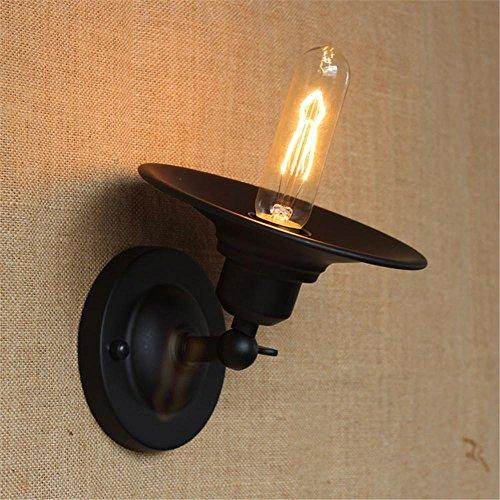 NIHE personnalité créative européenne rétro minimaliste nostalgique éclairage industriel, lampe murale en fer forgé chambre lampe de chevet