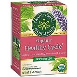 Traditional Medicinals Organic Healthy Cycle Raspberry leaf caffeine Free Herbal Tea 16 Ea 0.85 oz