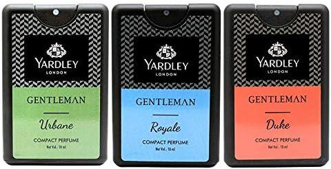 Yardley London Compact Perfume Tripack - Gentleman Royale + Gentelman Urbane + Gentleman Duke 18ml (Pack of 3)