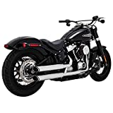 Vance & Hines Chrome Twin Slash 3-Inch Slip-ons for 2018-Newer Softail Street Bob, Low Rider, Softail Slim, Fat Boy, and Breakout