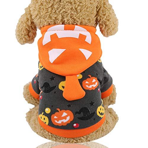Abcsea Ropa para Perros para Mascotas De Halloween, Disfraz De Mascota De Halloween, Disfraces De Halloween para Mascotas, Disfraz para Perro, Disfraz De Calabaza para Perro De Halloween, M
