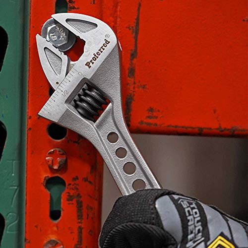 Proferred T06003 Tiger Paw Adjustable Wrench with Padded Handle, Matt, 8