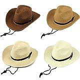 [セウルブルー] 子供用 麦わら 帽子 おしゃれ テンガロン ハット 折りたたみでコンパクト 子供 キッズ (コーヒー)