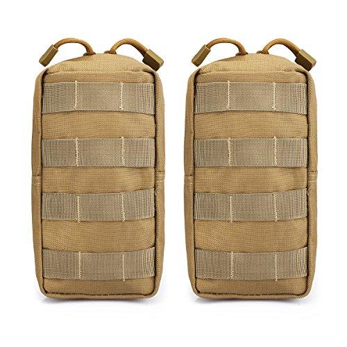 G4Free Lot de 2 pochettes tactiques Molle compactes pour gadget, équipement - Pochette EDC de petite taille pour coffre, gilet, sacoche de selle - Pour le camping, la randonnée, le trekking, peau