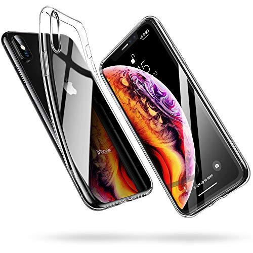 ESR Cover per iPhone XS, Cover per iPhone X, Custodia Gel Trasparente Morbida Silicone Sottile TPU [Ultra Leggera] per iPhone XS/X da 5.8 Pollici.