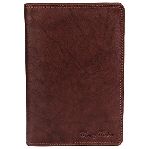 Große Herren Leder Brieftasche Ausweismappe braun - präsentiert von ZMOKA®