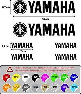6 Pegatinas Stickers ADESIVO AUFKLEBER Decals AUTOCOLLANTS Compatible con Yamaha Moto Texto Y Logo