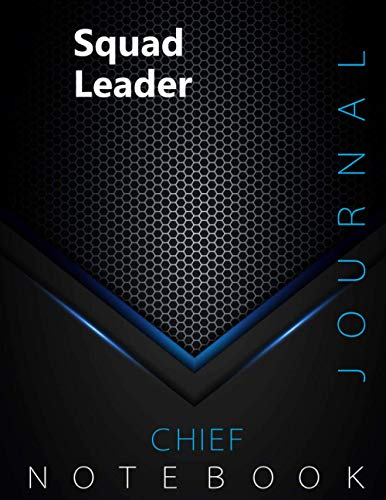 """Chief Squad Leader Journal, CSL Notebook, Executive Journal, Office Writing Notebook, Daily Decisions & Action Items Notebook, 140 pages, 8.5"""" x 11"""", Glossy cover, Black Hex"""