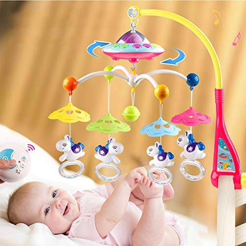 Musical Mobile kinderbedje Decoration Toy Opknoping Rotating Bell 3 in 1 Crib Mobile Met licht en muziek baby Mobile Voor Crib Mobiles,A