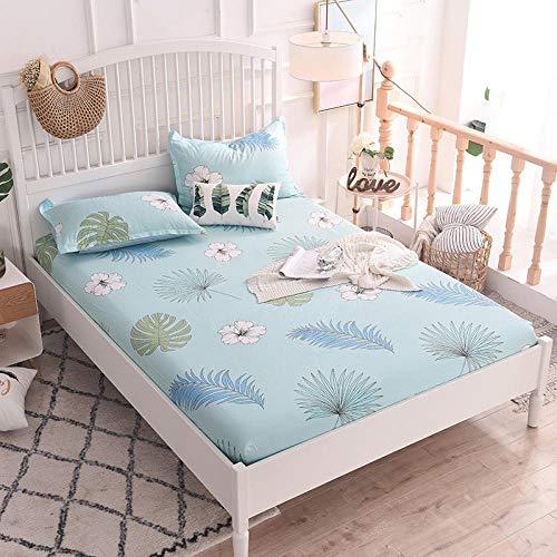 HPPSLT Protector de colchón - cubrecolchón Transpirable Sábana de Cama Individual 100% algodón, Funda completa-19_150 * 200cm