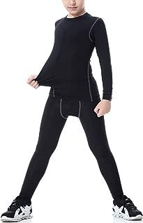 Rdruko Children Base Layer Set Long Sleeve Compression Sports Suits