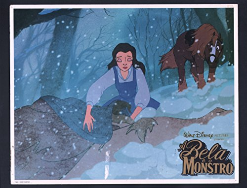 MOVIE POSTER: Beauty and the Beast Lobby Card-1991-Paige O'Hara the voice of Belle