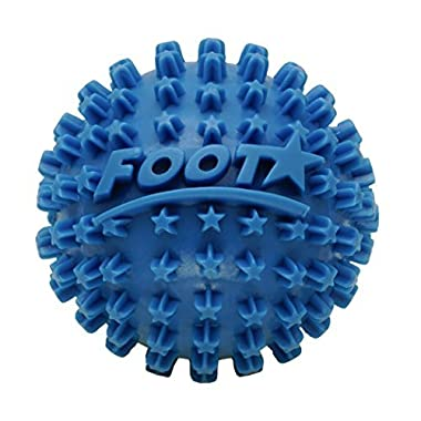 Foot Star 2 inch Spiky Foot Massager & Roller Ball – Deep Tissue Massage Ideal for Plantar Fasciitis Treatment, Muscle Pain Relief, Trigger Point Therapy & Myofascial Release (1-Pack, Blue)