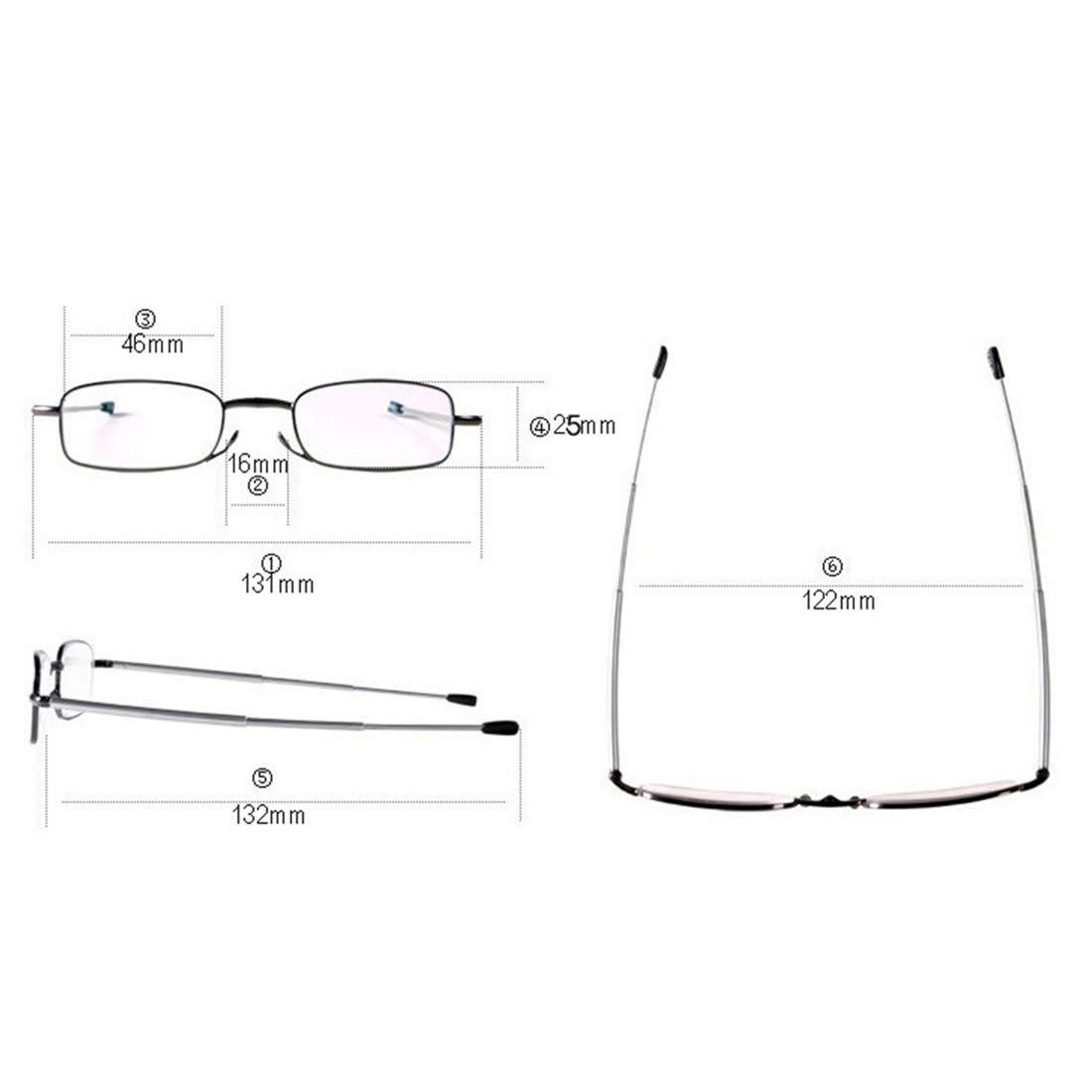 uu19ee Gafas de Lectura Plegables Hombres Mujeres Mini diseño ...