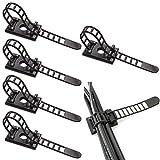 Fodlon Nylon Abrazadera de Cable, 50 Piezas Correas de Cable Autoadhesivas Ajustables Bridas de Nylon Organizadores de Cables Autoadhesivos Negro