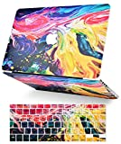 LuvCase 2 in 1 Laptop Case Compatible with MacBook Air 13 Inch (2018-2020) A1932 (Touch ID) Retina Display Rubberized Plastic Hard Shell Cover & Keyboard Cover (Painting)