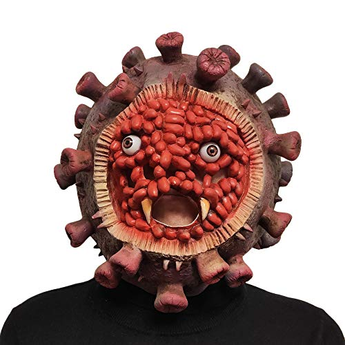 Virus Model 2020 Halloween Costume Latex Balaclavas Costume Mask Red