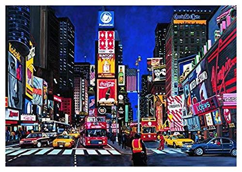 Puzzles Adultos 1000 Piezas, Rompecabezas para niñas de 3 años, Rompecabezas de 1000 Pedazos para Adultos Navidad, Rompecabezas 3D, Nueva York Times Square Night View, 50x75cm