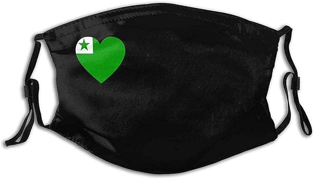 Stylish Esperanto Adjustable Washable Balaclavas Face Mask for Adult Teens with 2 Filters