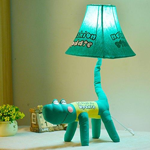 Bonne chose lampe de table Lampe de table de bande dessinée Chambre d'enfants Tissu Animal Lumière Bureau Lecture et écriture Protection des yeux Lampe Chambre Lampe de chevet