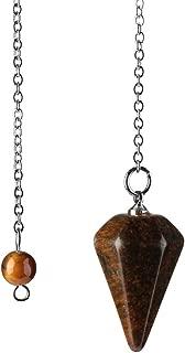 Dragonface Amulette Pierre Naturelle de gu/érison Pendentif Cristal m/éditation Hexagonal Pendules pour Hommes Femmes Bijoux de Petite Taille