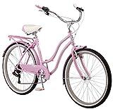 Schwinn Perla Women's Cruiser Bicycle, Featuring 18-Inch Step-Through Steel Frame and 7-Speed...