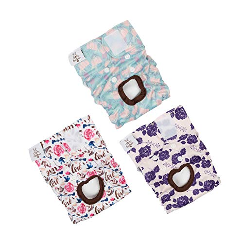 CuteBone Reusable Dog Diapers Female Small 3 Pack D15S
