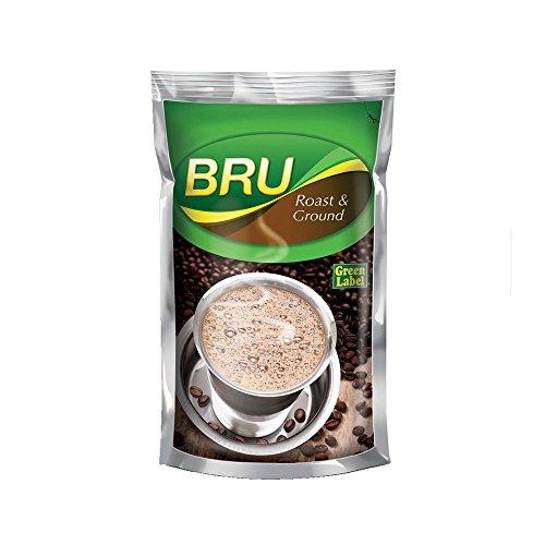 Bru Green Label Filter Coffee - Ground & Roast, 500 g