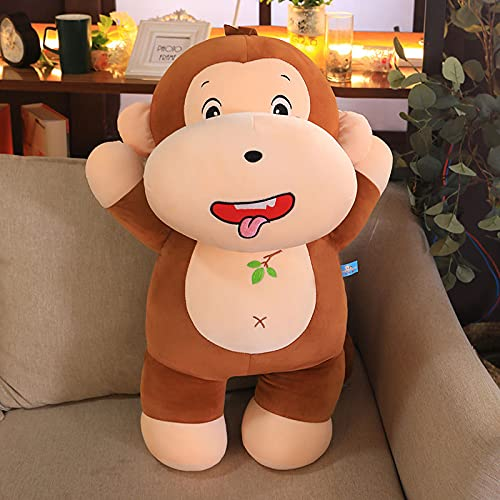 WYSTLDR Bambola Peluche Bambola con Cuscino Scimmia impertinente, Cuscino per Dormire con Letto Celebrità in Rete, Regalo di Compleanno Marrone 45 cm