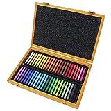Conté à Paris Coffret de Crayons à dessin en bambou 48 carrés Couleurs Assorties