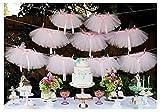 Originals Group Tutu Table Skirt , Pink Tulle Tutu Table Skirt Decor, Birthday Event Wedding Party Decoration (Mini Pink Tutu Garland)