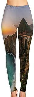 Creek Bridge Coast Big Nature Scenery Yoga Pants Vivid Printed Women's Non-Fading Sportswear High Elastic Leggings