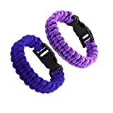 L&F Home Paracord Bracelet Set for Men Women Boys Girls Bracelets Rope Braided with Parachute Cord for Emergency Outdoor Survival- Great Party Favors Return Gifts (Purple/Blue)