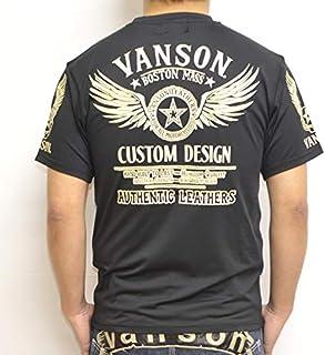 当店別注 バンソン VANSON ABV-2004 ドライ 半袖 Tシャツ ブラック色 レギュラータイプ 吸汗速乾 抗菌防臭 UVカット