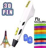 Bolígrafo de impresión 3D Bolígrafo de dibujo profesional en 3D recambios de bricolaje con manualidades para adultos y niños en 10 colores