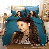 Ariana Grande Mujer Estrella Pura impresión Digital 3D Ropa de Cama Textiles para el hogar Ropa de Cama de Tres Piezas Funda de edredón Halloween Adecuado para el hogar Schulmaterial
