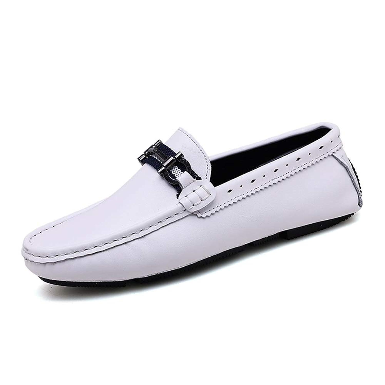[ワイエルワイ] ビジネス 防滑 カジュアル 耐久 通気 シューズ 簡単着脱 革靴 メンズ 軽量