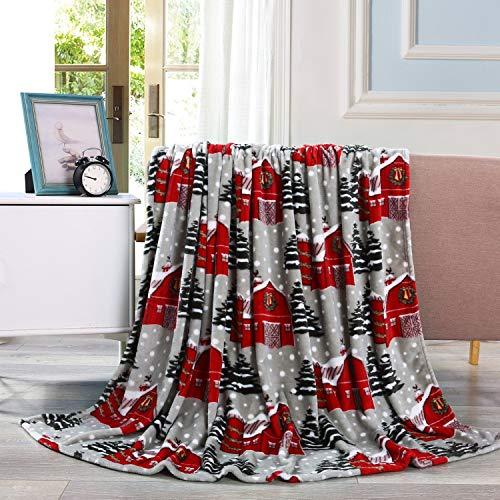 Valerian Luxury Velvet Touch Ultra Plush Christmas Blanket |Soft, Warm, Cozy |Holiday Printed Fleece Throw/Blanket - 50' x 60inch