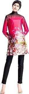Life Q Women Swimming Wear Swimsuit Muslim Floral Flower Printed Tankinis