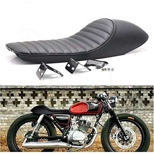 Tookss Sitzbezug für Honda CB 400 550 750 ABS + PU-Leder, 62 x 21,5 x 15 cm, Schwarz