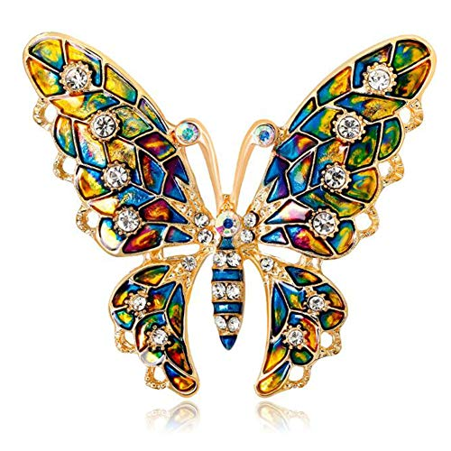 Schmetterlings Brosche, Brosche, Strass Schmetterling, Brosche Tierform Ansteckbrosche für Frauen Dekoration