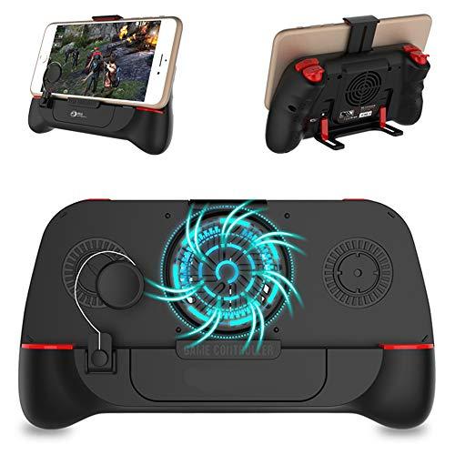 Ashey Bluetooth PUBG-Controller Gamepad, L1R1 Trigger mit Lüfter Spiel Joystick, Griff-Halter, für IOS iPhone Android Handy
