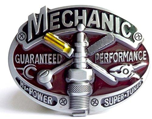 Mechanic Mechaniker Buckle Gürtelschnallen Auto V8 Werkstatt Hot Rod Rockabilly Performance