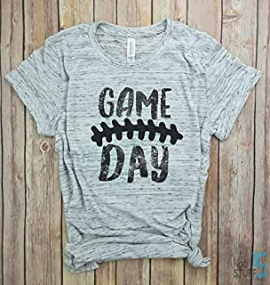 Game Day Shirt Distressed - Laces, Football Tshirt, Football Sunday Shirt, Football Season, Sunday Funday, sorority game day shirt.