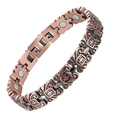 Jecanori Copper Magnetic Bracelet for Men Pain Relief for Arthritis...