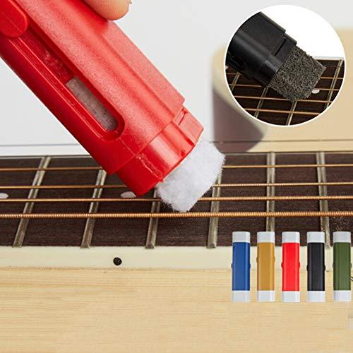 Ohhome Limpiador de cuerdas para guitarra eléctrica Rust Remove Pen con cuerda...
