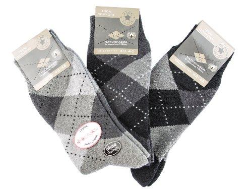 6 Paar Herren Thermo Socken - Vollfrottee (7010) - Original von SOUNON®, Groesse: 43-46