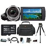 Sony HDR-CX455 Handycam Full HD 1080p Camcorder w/ 32GB Micro SD Card Bundle